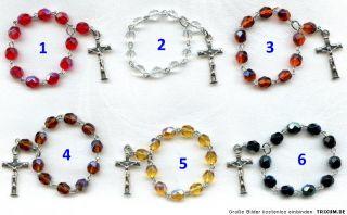 Krisall Rosenkranz Jesus Kreuz Rosary Crysal Chaple Rosaire Rosario
