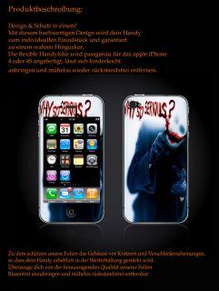 APPLE IPHONE 4/4S Joker Handy Sticker Aufkleber Schutzfolie Inley