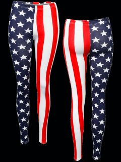 American Print Super Sexy Leggings ★ Trendy Printed Leggins