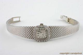 Damenuhr Omega 18 Karat Weißgold mit Diamanten