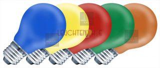 Glühlampe Müller Licht 5er Set bunt/farbig E27 rot/gelb/blau/grün