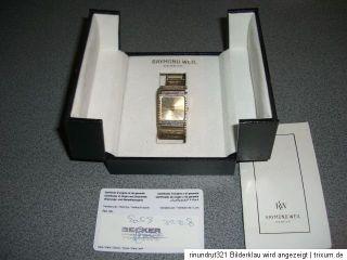 RAYMOND WEIL GENEVE DAMEN ODER HERRENUHR 18K GOLD PLATED MIT BOX UND