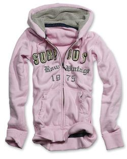 Surplus Raw Vintage Kapuzenpullover LADIES HOODIE + ZIPPER Klassiker