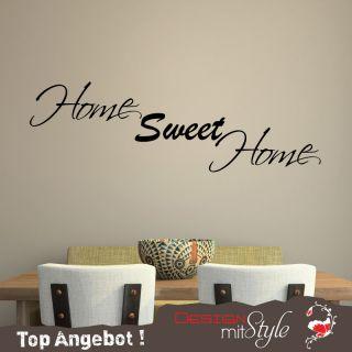 A823 Wandtattoo   Home Sweet Home  Wohnzimmer, Schlafzimmer, Flur