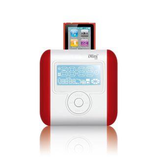 Ozaki iMini Cute 2 Radio Alarm iPod Speaker in Red