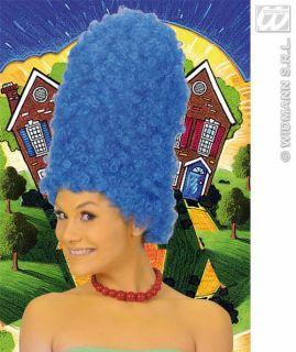 Perücke blau hoch Comic Marge Simpson Double Karneval