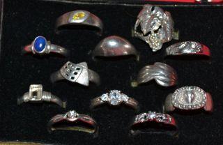 Schmuck Nachlass   12 Stück Echt 925 Silber Ringe Silberring