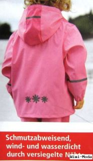 Kinder Matschjacke Buddeljacke Regenjacke Jacke Mädchen