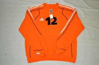 ADIDAS Langarm Trikot Shirt Orange GR L #834