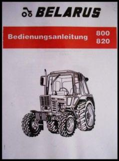 MTS Belarus 800 820 Allrad Bedienungsanleitung *NEU*