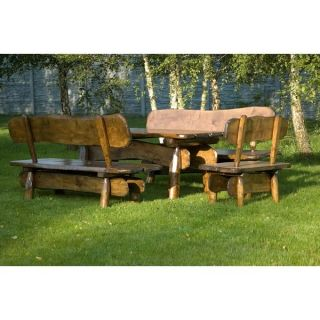 Rustikale Gartenmöbel aus Holz   Sitzgruppe UNICO 150cm