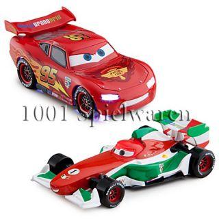 Disney Pixar Cars 2 Lightning McQueen & Francesco Bernoulli mit Licht