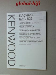 KENWOOD KAC 823 , KAC 923 * Power Amplifier * BEDIENUNGSANLEITUNG