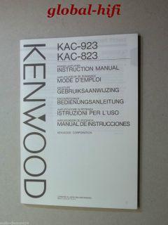 KENWOOD KAC 823 , KAC 923 * Power Amplifier * BEDIENUNGSANLEITUNG