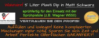 Plasti Dip Schwarz matt 5l Flüssiggummi Auto Folie Felgen Felgenfolie