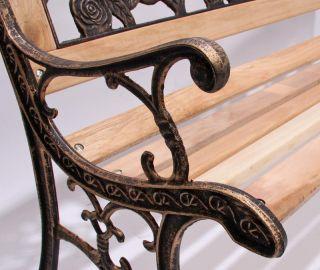 Ware  Gartenbank Bank Amadora, Gusseisen, 126x55x74cm ~ bronze