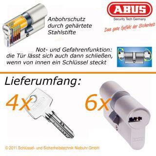 6x ABUS EC550 gleichschließend Profilzylinder Schloss Zylinder 4