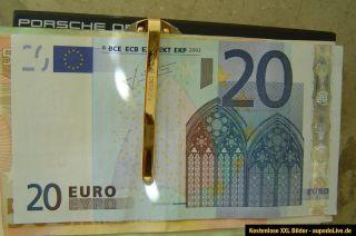 Porsche Design Money Clip Geldklammer Matt SilberHochglanz Gold Farben