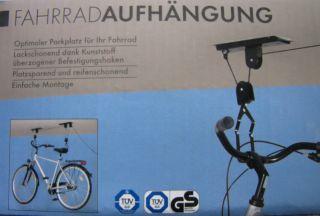 Fahrradlift Fahrradaufhaengung Deckenmontage NEU in OVP fuer Keller