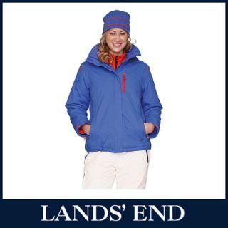 LANDS END Damen Gipfelsturm Jacke Wasserdicht Windjacke Windbreaker