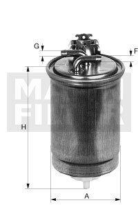 MANN Filter Kraftstoff Filter Dieselfilter WK 853/3X