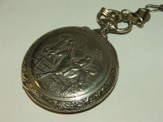 DOXA Taschenuhr / Pocket Watch mit Reiter Relief