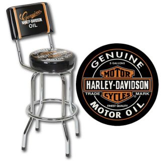 Harley Davidson Barhocker NEW OIL CAN mit Lehne HDL 12203