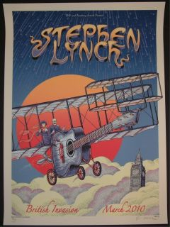 Emek Stephen Lynch British Invasion Tour Poster S/N Doodled
