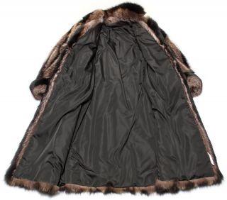 NEU Waschbär Mantel Pelz raccoon fur coat Vintage Pelzmantel Boho Gr