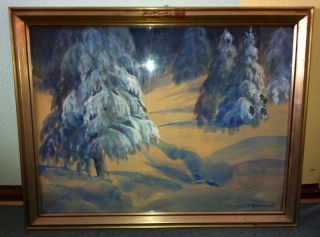 Rarität Original Paul Rosentreter Gemälde Eisenach Maler Vollmer / T
