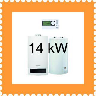 Buderus Gasheizung 14 kW Set W22 GB172 + Speicher S 120