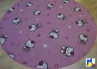HELLO KITTY Sanrio Teppich Rund NEU Durchmesser wählbar