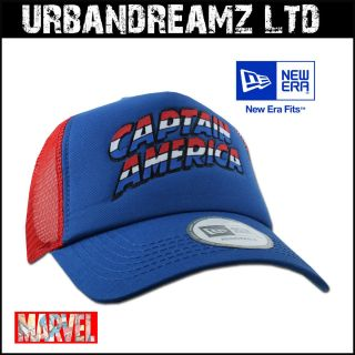ERA TRUCKER CAP CAPTAIN AMERICA FRESH TRUCKER OFFICIAL MARVEL OSFA 877