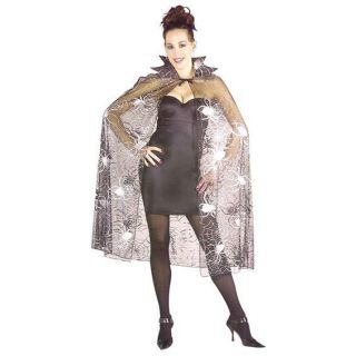 Adult Spider Web Fancy Dress Cape