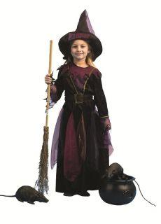 MIDNIGHT HEXE Samt Kostüm Zauberin Mädchen Gr. 104
