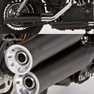 Double Groove Auspuff Harley Davidson Sportster XL 883 06 schwarz