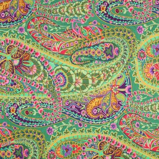 Rowan Kaffe Fassett Paisley Jungle Green Floral Cotton Quilt Quilting
