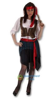 CARIBBEAN PIRATE FANCY DRESS COSTUME LADIES SIZE 16 18