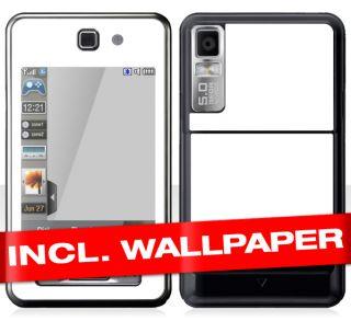 Samsung F480 Skin  PURE WHITE  Handy Aufkleber NEU Sticker Zubehör