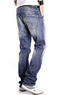 Diesel Krooley 0880E 880E Herren Jeans Hose Blau Regular Slim Carrot