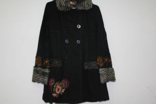 Neu 2012 Desigual Damen Mantel Jacke Wool 28E2992 Escorpion 36 38