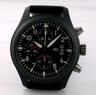 IWC TOP GUN Chrongraph Ceramic IW378901 3789 01 44mm Kevlar Strap