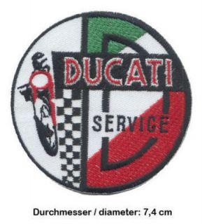 DUCATI SERVICE Aufnäher Patch Desmo 900 Super Sport