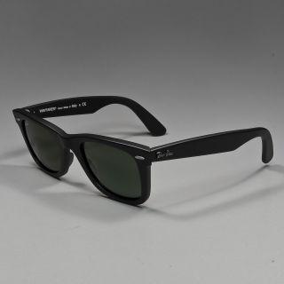 RAY BAN Sonnenbrille Wayfarer black matte / crystal green RB2140 901S