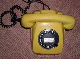 Altes Post Wählscheiben Telefon FeTAp 611 2 Ocker   Guter Zustand