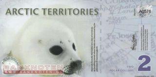 Arktische Region   Arctic   2 Polar Dollars [901] UNC