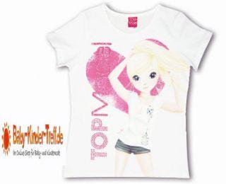 Mädchen Kinder T Shirt Top Model Weiss Nadja