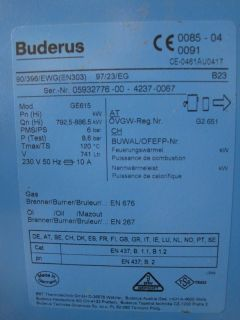 Buderus Logano GE615 Elco Klöckner Öl Heizung Brenner komplette