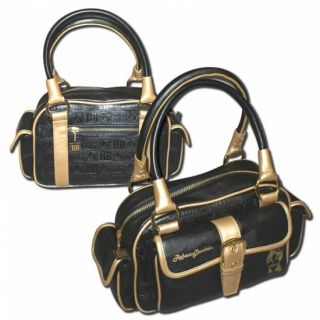 Rebecca Bonbon Freetime Bag Tasche schwarz gold NEU
