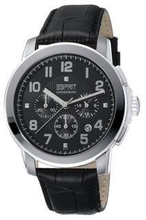 Esprit Herrenuhr Herren Uhr Chronograph Rondo Chrono Black NEU&OVP UVP